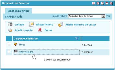 Directorio de ficheros en Educamadrid